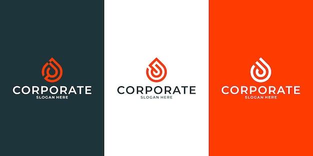 Conjunto de design de logotipo j para sua empresa