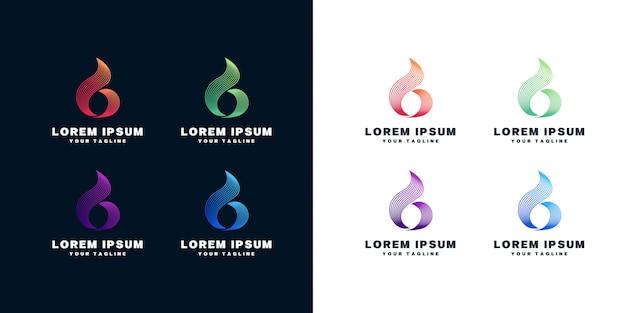 Conjunto de design de logotipo letra b