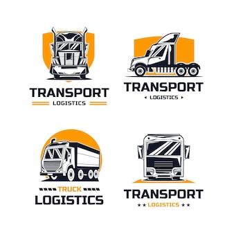 Conjunto de design de logotipo para empresas de transporte