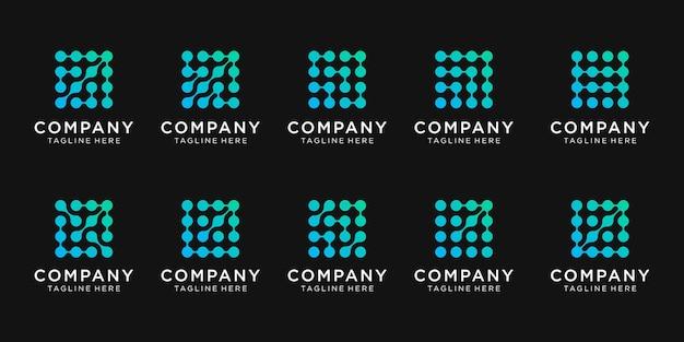 Conjunto de design de logotipo para empresas