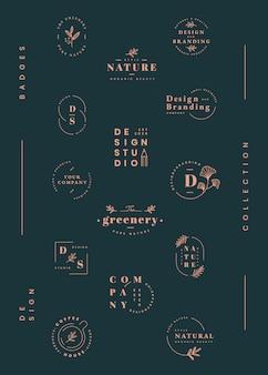 Conjunto de design de logotipo
