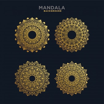 Conjunto de design de mandala de luxo