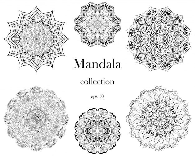 Conjunto de design de mandala