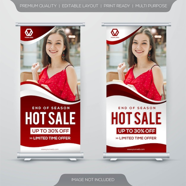Conjunto de design de modelo de banner de venda quente