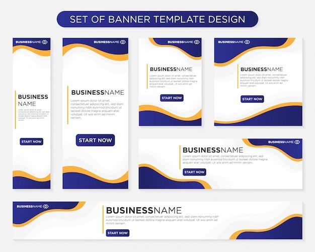 Conjunto de design de modelo de banner