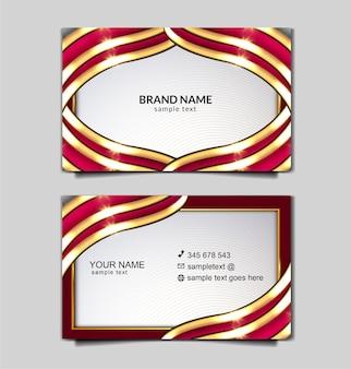 Conjunto de design de modelo de cartão de negócios de luxo