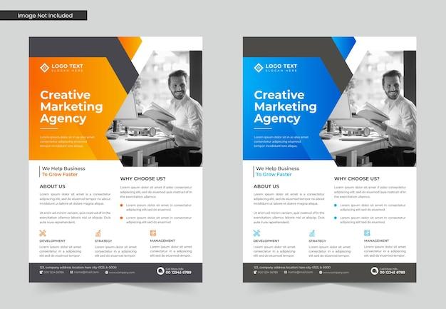 Conjunto de design de modelo de folheto de negócios corporativos ou modelo de folheto a4