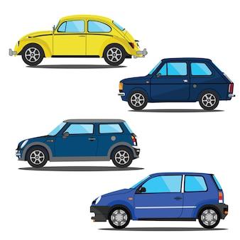 Conjunto de design de modelo de ilustração vetorial de carro