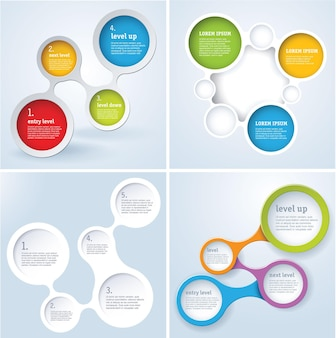 Conjunto de design de modelo simplesmente mínimo infográfico.