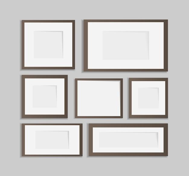 Conjunto de design de moldura de foto em fita adesiva isolada em transparente