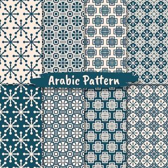 Conjunto de design de padrão de ornamento abstrato islâmico