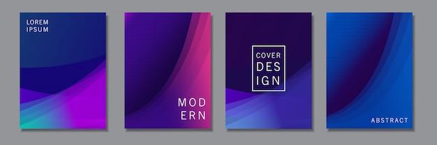 Conjunto de design de plano de fundo com formas geométricas abstratas