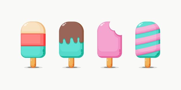 Conjunto de design de sorvete