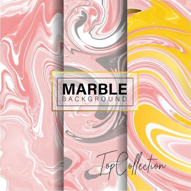 Conjunto de design de textura de mármore rosa
