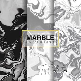Conjunto de design de textura de mármore