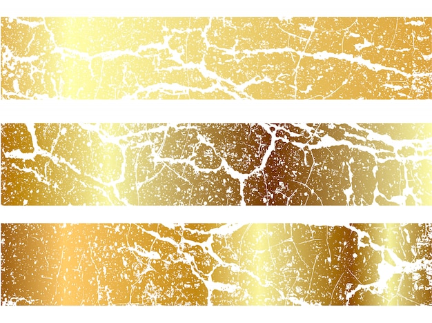 Conjunto de design de textura de marmoreio ouro
