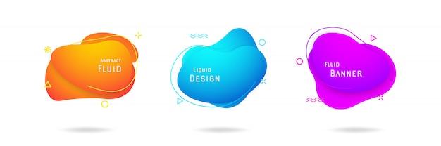 Conjunto de design de vetor abstrato líquido