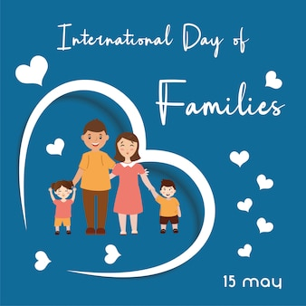 Conjunto de design de vetor de caráter familiar. feliz família jovem