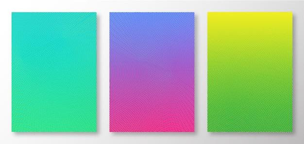 Conjunto de design gradiente de fundo colorido abstrato