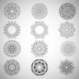 Conjunto de design mandala