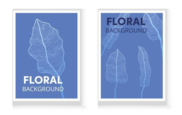 Conjunto de design moderno de arte abstrata com ilustração de forma orgânica