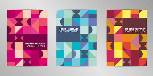 Conjunto de design moderno de capa colorida