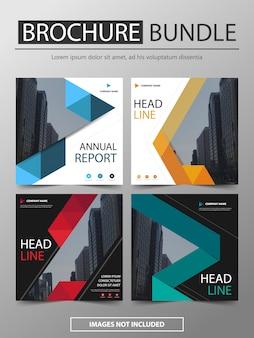 Conjunto de design moderno modelo brochura pacote