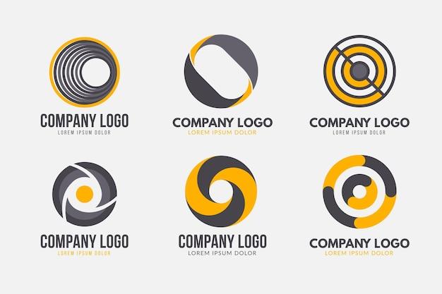 Conjunto de design plano ou modelos de logotipo