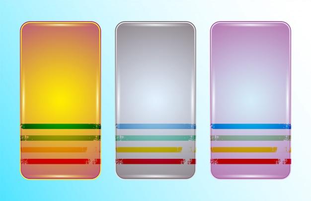 Conjunto de design vintage de caso de smartphone