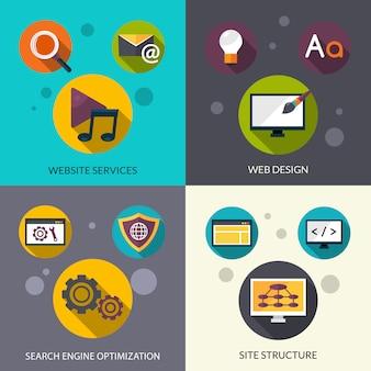Conjunto de design web