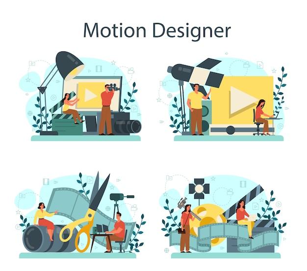 Conjunto de designer de movimento ou vídeo