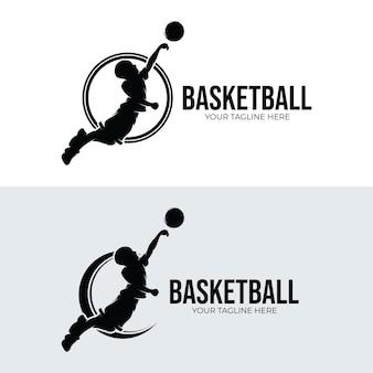 Conjunto de designs de logotipo de basquete