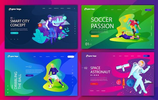 Conjunto de designs de modelos de sites criativos