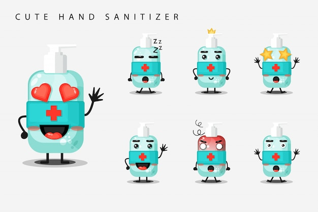 Conjunto de desinfetante para as mãos