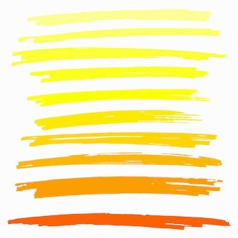 Conjunto de destaque aquarela mão desenhada