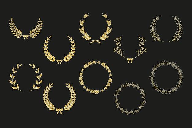 Conjunto de dez coroas de louros