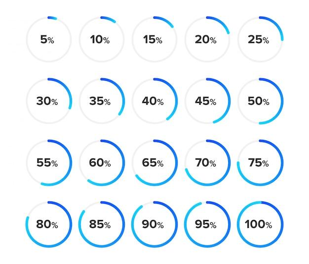 Conjunto de diagramas de círculo