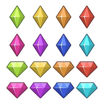 Conjunto de diamantes de jogo