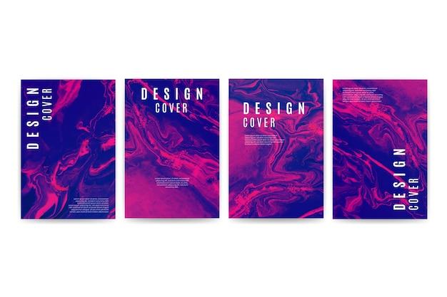 Conjunto de diferentes designs de capa