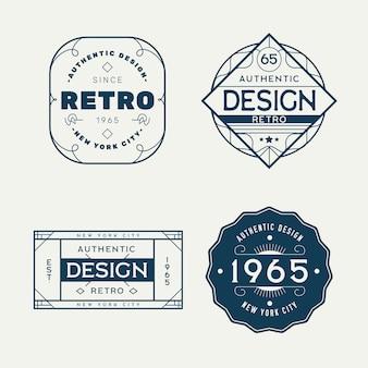 Conjunto de diferentes logotipos retrô