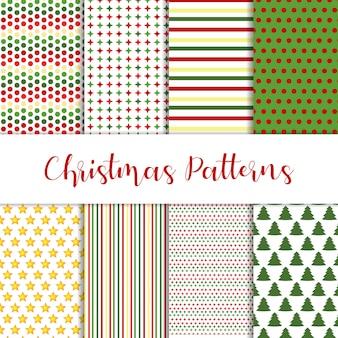 Conjunto de diferentes padrões de natal