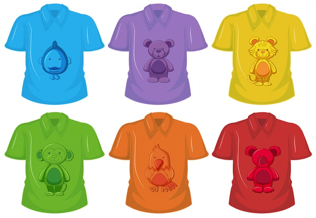Conjunto de diferentes t-shirt