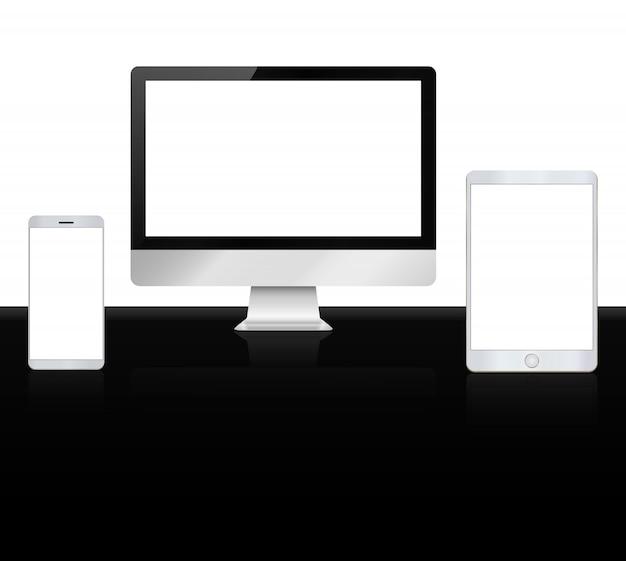 Conjunto de dispositivos de alta qualidade apple