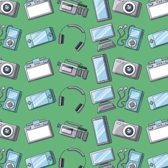 Conjunto de dispositivos de tecnologia de dispositivos padrão sem costura digital