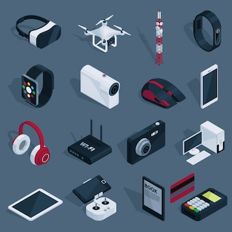 Conjunto de dispositivos de tecnologia isométrica