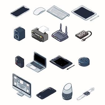 Conjunto de dispositivos eletrônicos