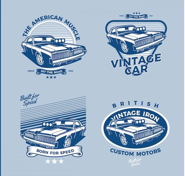 Conjunto de distintivo de carro