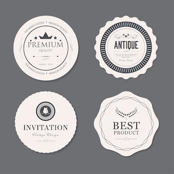 Conjunto de distintivo de moda antiga rótulo vintage. ilustração de banner.
