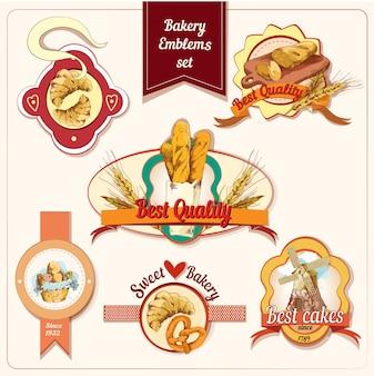 Conjunto de distintivo de padaria