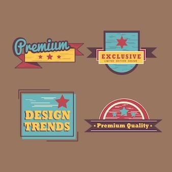 Conjunto de distintivo de qualidade premium